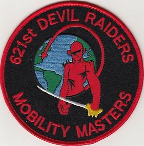 621st DEVIL RAIDERS Contingency Response Wing MOBILITY MASTERS USAF Military Patch