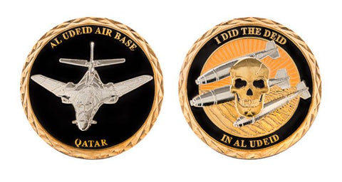 Did The Deid in AL UDEID - Air Base Qatar - Challenge Coin