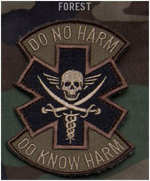 Do No Harm Pirate Hook Backing Patch - Forest