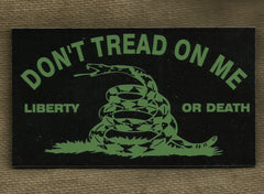 DON'T TREAD ON ME GADSDEN FLAG IR COVERT VELCRO PATCH - OD GREEN