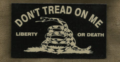 DON'T TREAD ON ME GADSDEN FLAG IR COVERT VELCRO PATCH - TAN