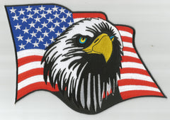 EAGLE with AMERICAN FLAG BACK PATCH
