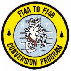 NAVY CONVERSION PROGRAM TOMCAT F-14A TO F-14B MILITARY PATCH