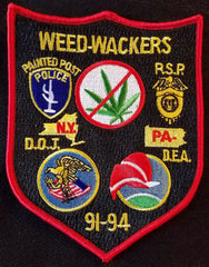 DRUG ENFORCEMENT ADMINISTRATION DEA DOJ PSP WEED-WACKERS POLICE PATCH