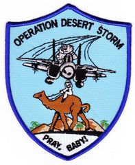 NAVY F-14 TOMCAT Operation Desert Storm Military Patch PRAY, BABY!