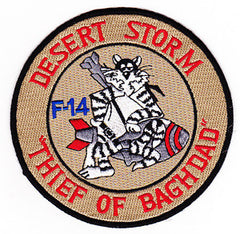 "NAVY F-14 Aviation Air TOMCAT Military Patch DESERT STORM ""THIEF OF BAGHDAD"""