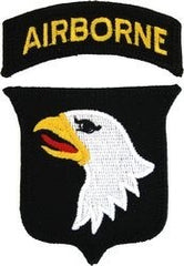 101st AIRBORNE DIVISION ARMY MILITARY PATCH & TAB COLOR
