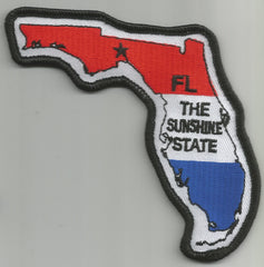 "FLORIDA - THE SUNSHINE STATE ""USA FLAG"" PATCH"