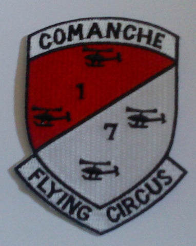 ARMY - 7th SQUADRON 1st AIR CAVALRY REGIMENT COMANCHE TROOPS MILITARY PATCH FLYING CIRCUS
