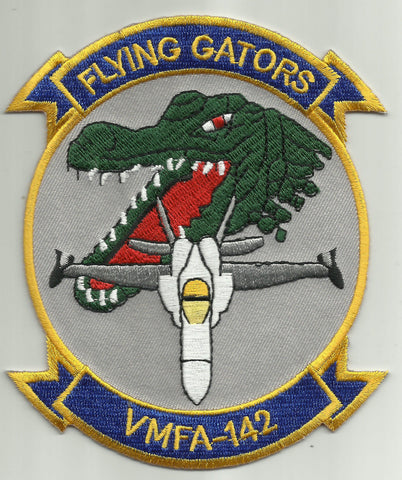 VMFA-142 U.S. MARINE Corps Fighter Attack Squadron flying gators Military Patch