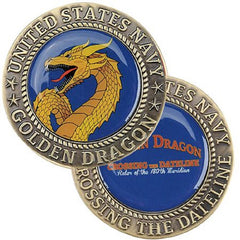 Crossing the Dateline GOLDEN DRAGON Challenge Coin