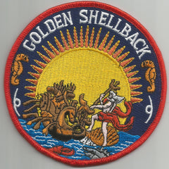 NAVY Crossing of the Equator Shellback Military Patch GOLDEN SHELLBACK