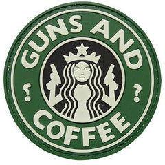 Coffee GUN AND COFFEE Tactical Morale 3D PVC Patch