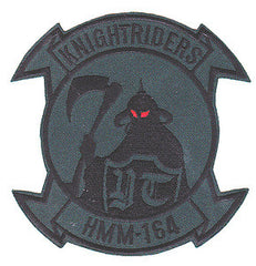HMM-164 US Marine Medium Helicopter Squadron One Six Four Military Patch GRIM REAPER KNIGHT RIDERS