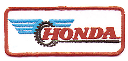 Honda Motorcycle Vintage Patch