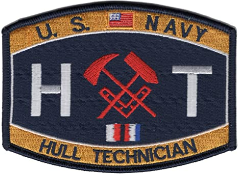 Hull Technician Rating Navy Military Patch HT