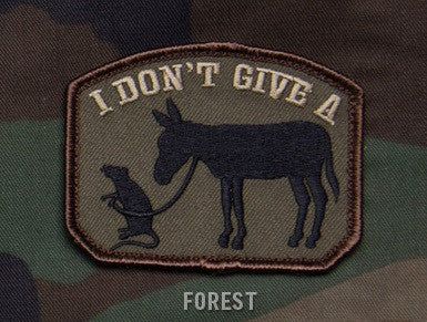 I DON'T GIVE A RATS ASS Hook Backing Patch - Forest