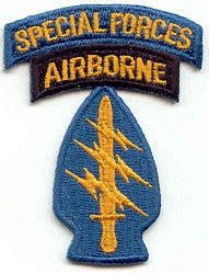 ARMY 5TH SPECIAL FORCES AIRBORNE MILITARY PATCH