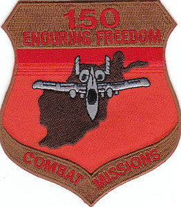 USAF A-10 Aviation 150 COMBAT MISSIONS Military Patch - United States Air Force