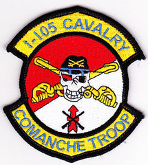 ARMY 1st Squadron 105th Aviation Cavalry MILITARY PATCH Comanche Troop VELCRO