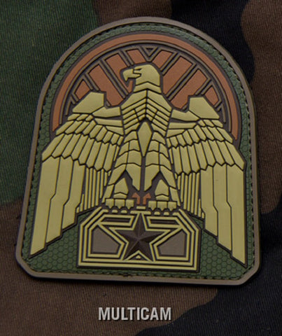 INDUSTRIAL EAGLE MULTICAM PVC HOOK BACKING MILITARY PATCH