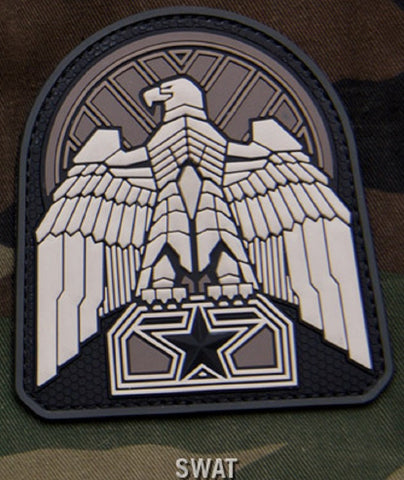 INDUSTRIAL EAGLE SWAT PVC HOOK BACKING MILITARY PATCH