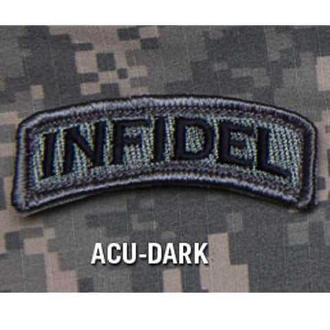 INFIDEL Rocker Tab Hook Backing Patch - ACU Dark
