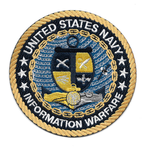 United States Navy Information Warfare Military Patch