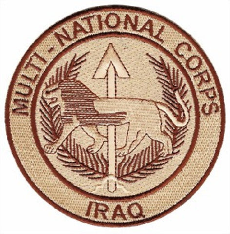 MULTI-NATIONAL CORPS IRAQ MILITARY PATCH OIF OEF DESERT COLOR