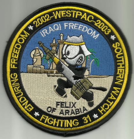 VF-31 FELIX OF ARABIA WESTPAC 2002 - 2003 OIF OEF SOUTHERN WATCH MILITARY PATCH