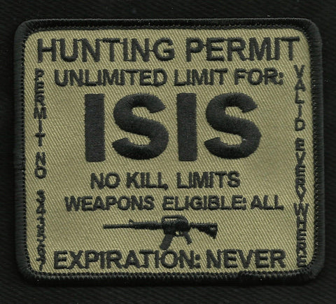 ISIS Hunting Permit Patch - Brown