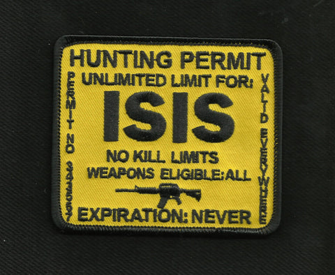 ISIS Hunting Permit Patch - Yellow