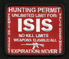 ISIS Hunting Permit Patch - Red