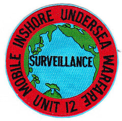 MIUWU-12 United States Navy Mobile Inshore Undersea Warfare Unit Twelve Military Patch SURVELLANCE