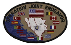 OPERATION JOINT ENDEAVOR NATO MILITARY PATCH