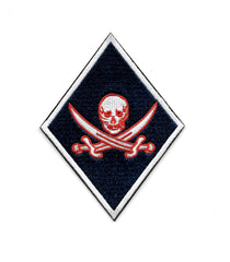 Jolly Rogers Skull and Cross Swords MC Diamond Biker Patch