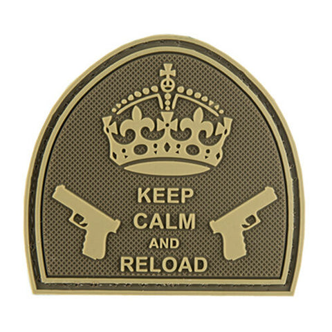 KEEP CALM AND RELOAD PVC HOOK PATCH - DESERT