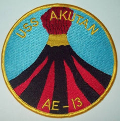 AE-13 USS AKUTAN AMMUNITION SHIP MILITARY PATCH
