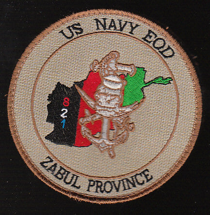 US Navy EOD Zabul Province 821 Military Patch