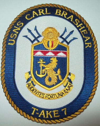 T-AKE 7 USNS CARL BRASHEAR Dry Cargo/Ammunition Ship Military Patch