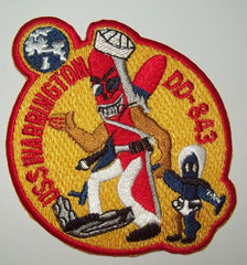 DD-843 USS WARRINGTON Gearing-Class Destroyer Military Patch