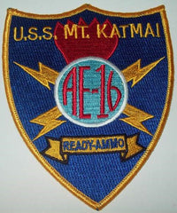 AE-16 USS MOUNT KATMAI AMMUNITION SHIP MILITARY PATCH READY AMMO