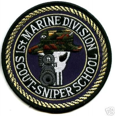United States MARINE CORPS 1st MARINE DIVISION SCOUT-SNIPER SCHOOL ...