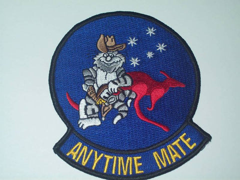 "USN F-14 TOMCAT ""ANYTIME MATE"" VF - 51 MILITARY PATCH"