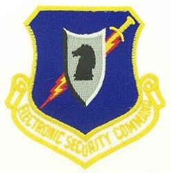 AIR FORCE ELECTRONIC SECURITY COMMAND MILITARY PATCH