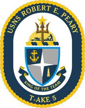 T-AKE 5 USS Robert E Peary Dry Cargo Ship Military Patch