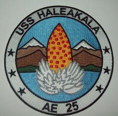 AE-25 USS Haleakala Ammunition Ship Military Patch