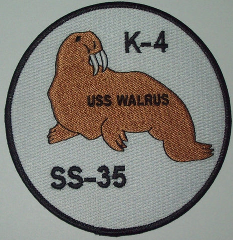 USS WALRUS K-4 (SS-35) K-CLASS Submarine Military Patch - UNITED STATES NAVY