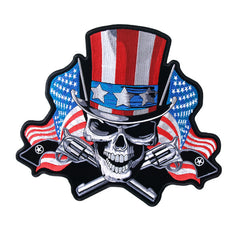 DEATH SKULL UNCLE SAM PATCH
