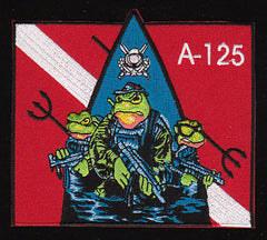 A-125 NAVY SEAL TEAM COMBAT DIVER UDT FROG PARTY MILITARY PATCH